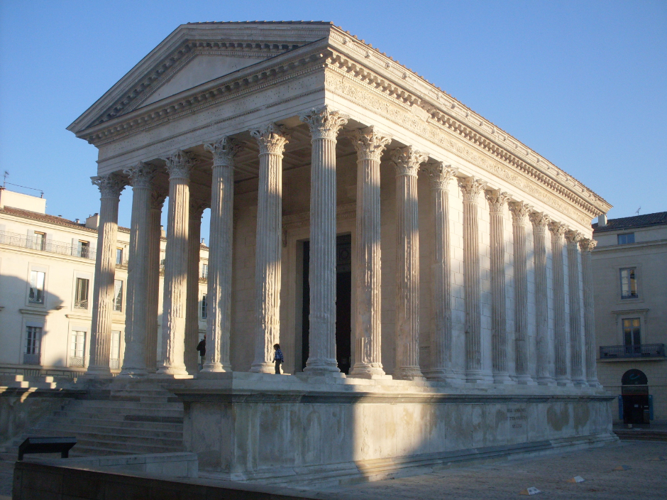 Temple of Gaius Caesar and Lucius Caesar (Maison Carrée), Nîmes (16 BCE)