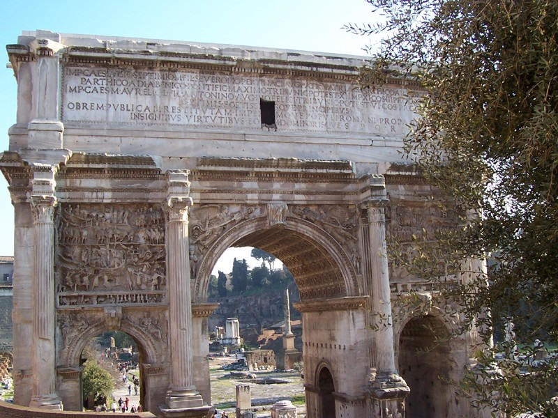 Triumphal Arch of Septimius Severus: View from the West