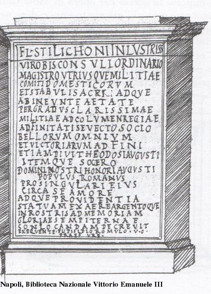 Dedication to Flavius Stilicho, Rome
