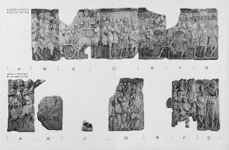 Reliefs from the Arch of Septimus Severus (northeastern and southwestern sides)