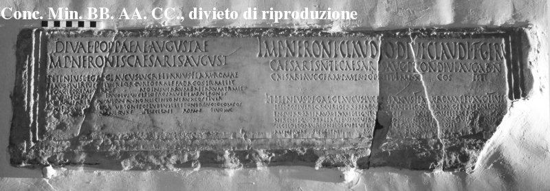 Dedication for Nero and Poppaea (CIL XI, 1331)