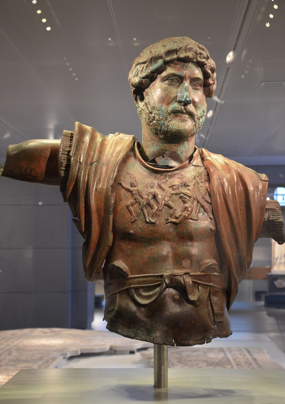 Bronze statue of Hadrian from Tel Shalem