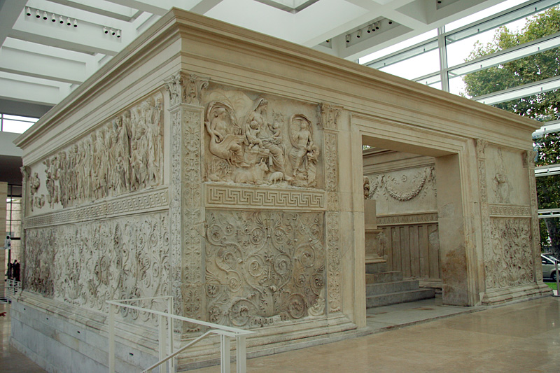 Ara Pacis: side view
