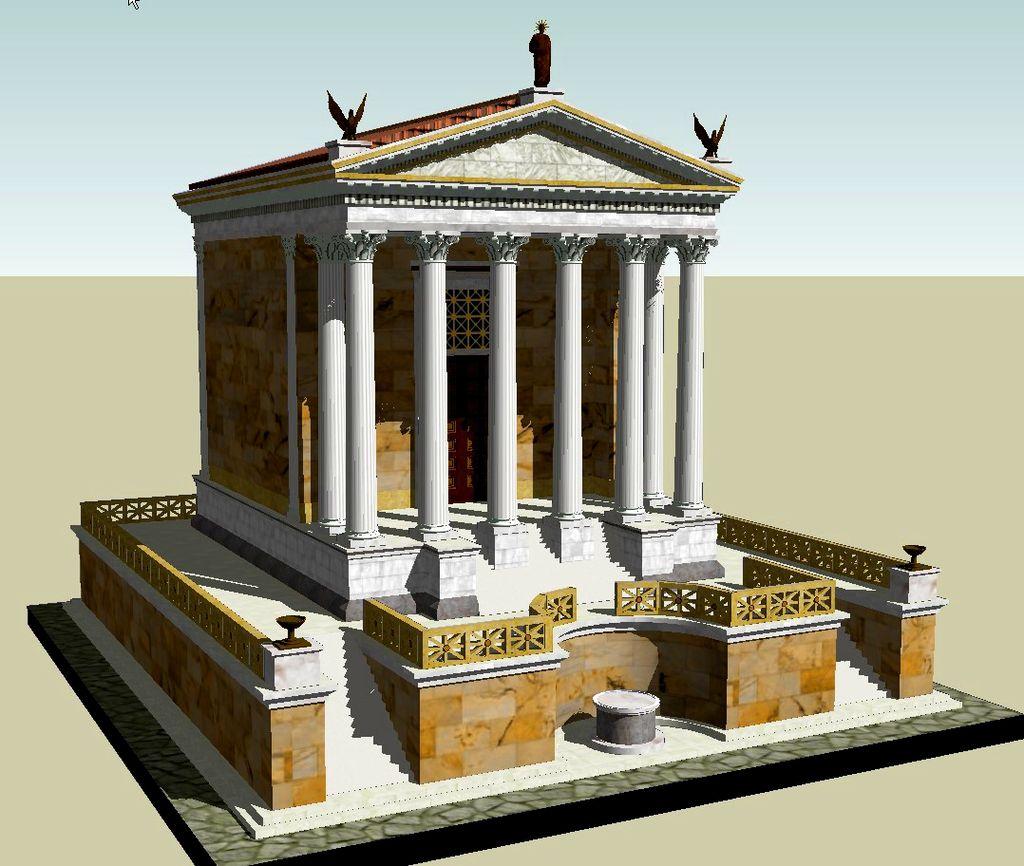 Reconstruction of the Temple of Divus Iulius