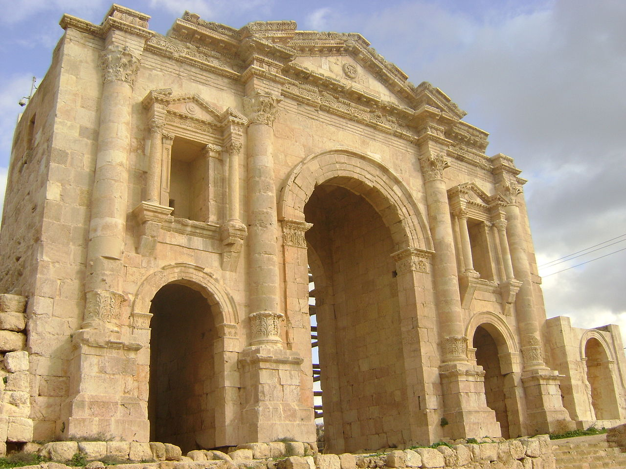 Arch of Hadrian - Jerash– General View