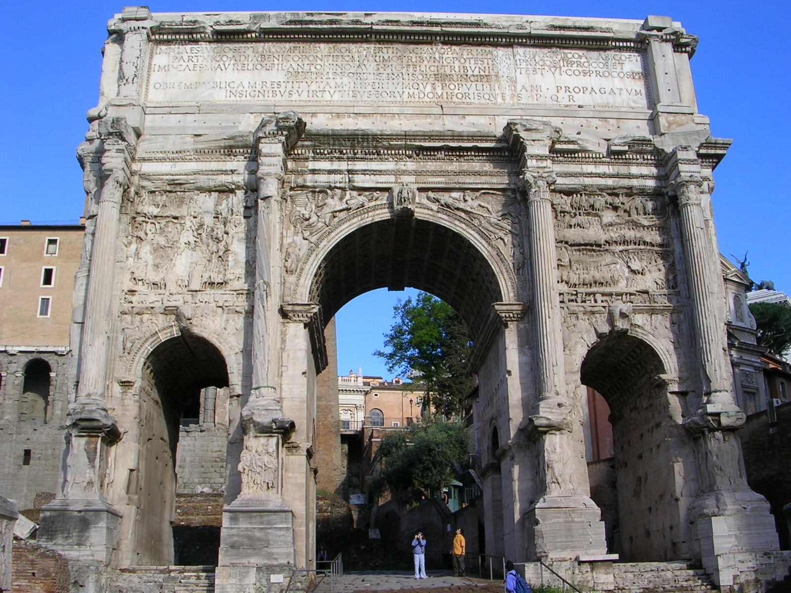 Triumphal Arch of Septimius Severus: View from the East