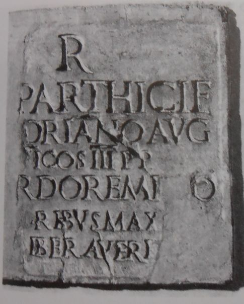 Dedication for a statue of Hadrian near the Temple of Vespasian and Titus