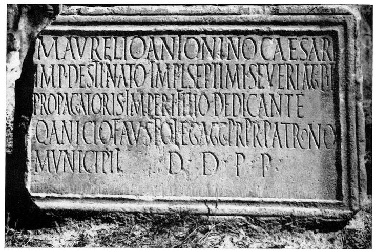 Dedication to Septimius Severus