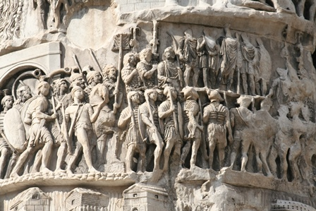 Column of Marcus Aurelius: The Roman army on the march