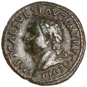 As depicting Titus and Aequitas holding scales and rod (80-81 CE) - obverse