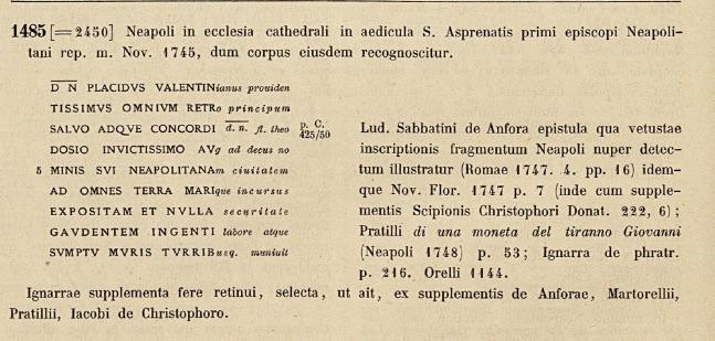 CIL X, 1485