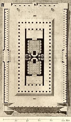 Plan of the Temple of Venus and Rome